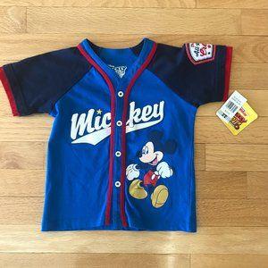 Disney Junior Mickey Mouse Baseball Shirt Size 2T